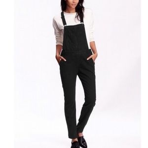 Old navy black denim overalls Women's XS